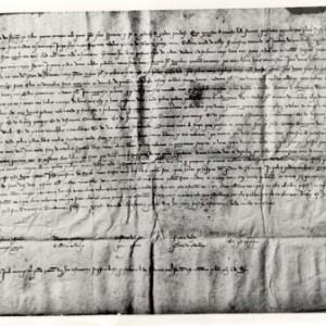 Testament de Ramon Llull. Arxiu dels Marquesos de Santa Maria de Barberà.