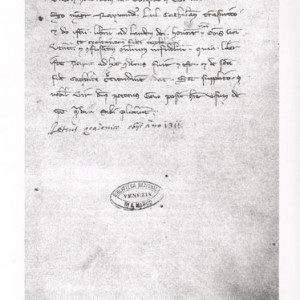 Dedication of the Ars demonstrativa to the Doge of Venice, Pietro Gradenigo. Source: manuscript VI 200 from the Biblioteca Marciana in Venice.