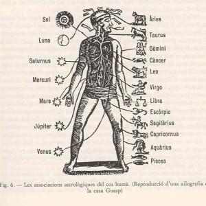 Les parts del cos humà i la influència dels astres segons Pring-Mill, Estudis sobre Ramon Llull.