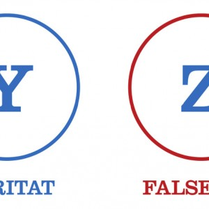 Figures Y and Z from the Ars demonstrativa, representing truth and falsity.